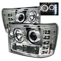 GMC SIERRA 2007 - 2013 HEADLAMP CHROME HEADLIGHT LED PROJECTOR