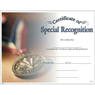 Award Certificate of Special Recognition, Pack of 15](Certificate Of Award)