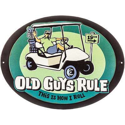 "OLD GUYS RULE "" THIS IS HOW I ROLL "" GOLF CART PUTTER IRON WOOD BALL BAG. Sport"