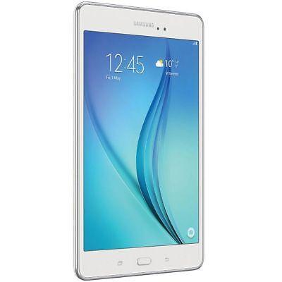 "Samsung Tab A T355Y 16GB 8"" Unlocked Tablet-White-Fair"