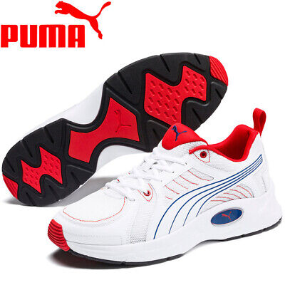 Men's Puma Nucleus Run White / Galaxy Blue Running Shoes Trainers UK 6.5  - 12