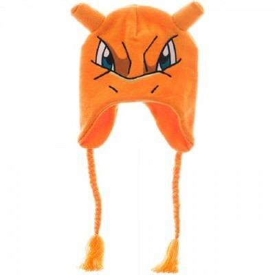 New Charizard Face Pokemon Warm Winter Beanie Knit Laplander Gift Hat NWT Dragon