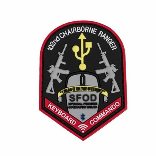"""102nd Chairborne Ranger Morale Patch Full Color Hook + Loop 2"""" x 3"""" Fast Ship"""