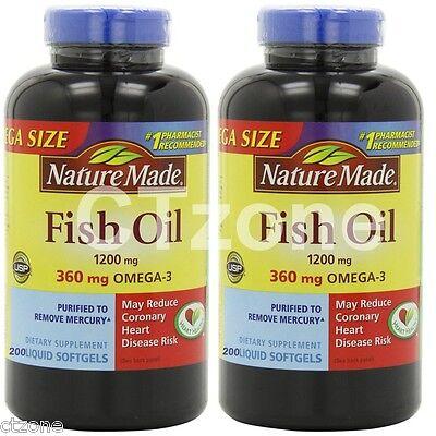 Nature Made Fish OIL 1200 Mg, 360 Mg Omega-3: 400 Liquid Sof