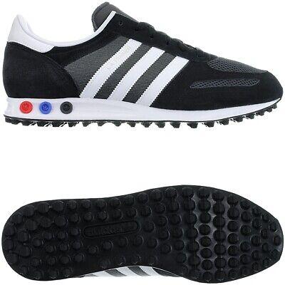 Adidas LA Trainer black white grey Men's Low-Top Sneakers suede mesh Trainer NEW