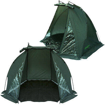 CARP FISHING BIVVY TENT SHELTER DAY SHELTER WATERPROOF WITH BAG AND GROUND SHEET