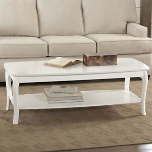 Rectangular Coffee Table Finish: White
