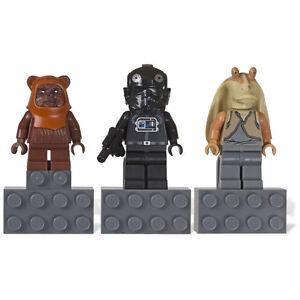 LEGO Star Wars Magnet Set Jar Jar Binks V-Wing Pilot Wicket Ewok 853414