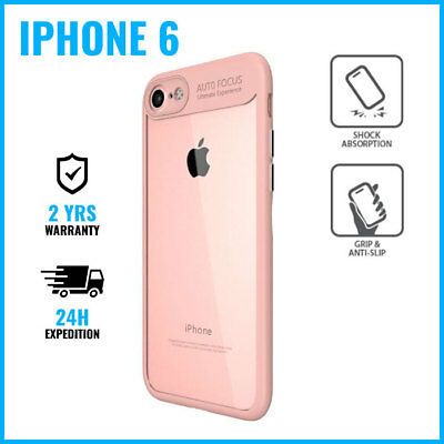 Focus Armor Cover Cas Coque Etui Silicone Hoesje Case Black For iPhone 6 Pink