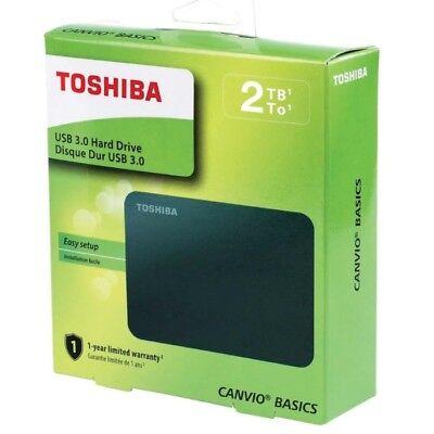 Toshiba Canvio - Disco Duro Externo de 2TB de 2,5