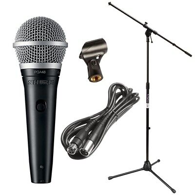 Shure PGA48 Cardioid Dynamic Vocal Microphone with XLR Cable PERFORMER PAK Xlr Cardioid Dynamic Vocal Microphone