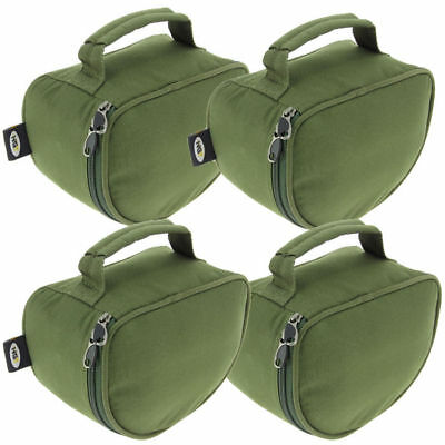 4 x NGT PADDED PIG PIT REEL CASE FOR CARP FISHING TACKLE REELS WITH LINE SPOOL