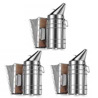 Little Giant Beekeeping Smoker 3-pack Stainless Steel Suede Leather Bellows