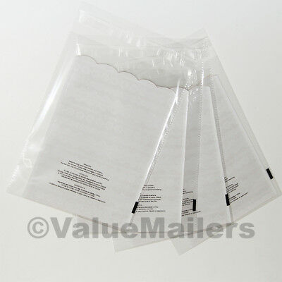 500 10x13 1.5 Mil Bags Resealable Clear Suffocation Warning Poly Opp Cello Bag
