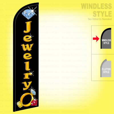 Jewelry - Windless Swooper Flag 2.5x11.5 Ft Feather Banner Sign Kf