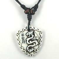 Collana Uomo Pendente Tribale Drago / Dragone Cinese Men Chinese Dragon Pendant -  - ebay.it