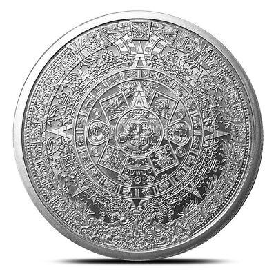 1 oz Silver Round   Aztec Calendar .999 Pure Silver - BACKORDER