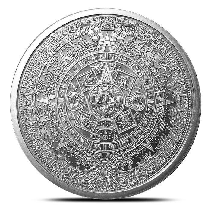 1 oz Silver Round   Aztec Calendar .999 Pure Silver - IN-STOCK!!