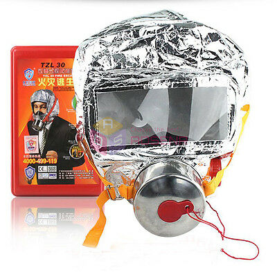 Emergency Escape Hood Oxygen Mask Respirator Fire Smoke Toxic Filter Firemask
