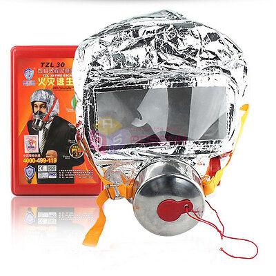 Emergency Escape Hood Oxygen Mask Respirator Fire Smoke Toxic Filter Firemask