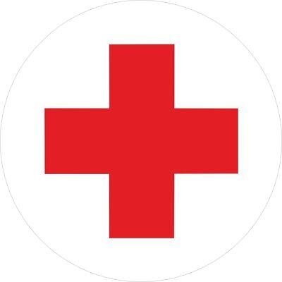 Aufkleber Rotes Kreuz ,  Ø 7cm  Rund