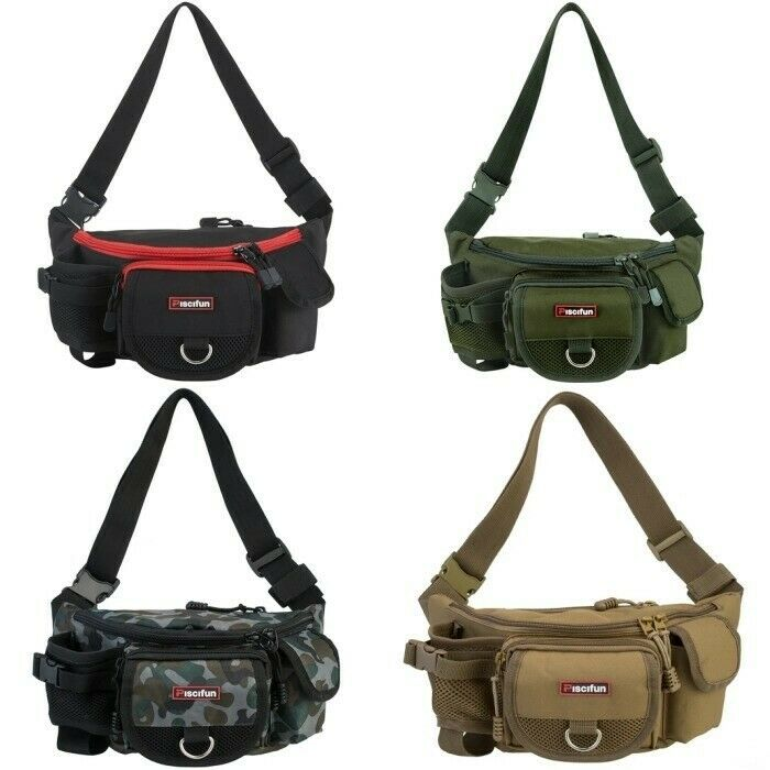 NEW Fishing Bag Portable Outdoor Tackle Bag Multiple Waist F