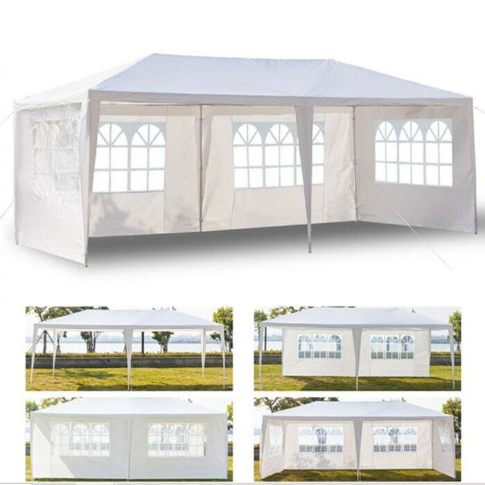 Gazebo Outdoor 10'x20' EZ POP UP  Tent Canopy Folding w/ Car