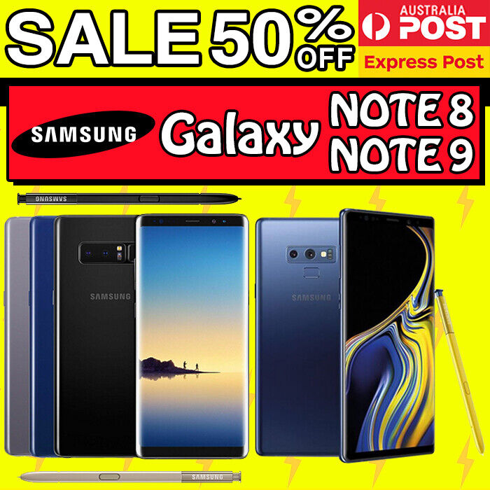 Android Phone - Samsung Galaxy Note 9 Note 8 AS NEW 512 256 128 64GB Unlocked Android Smartphone