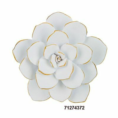 Small White Cactus Flower Resin Wall Decor