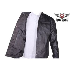 Mens Leather Shirt for Summer Riding Edmonton Edmonton Area image 2