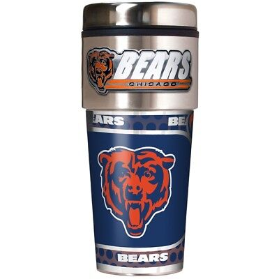 Chicago Bears NFL Stainless Steel 16oz Travel Tumbler Mug with - Chicago Bears Nfl Tumbler