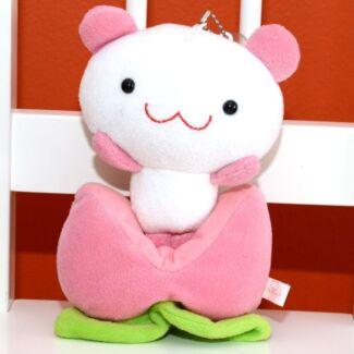 "Momo Panda Strawberry Patch Plush with Suction Pad 18cm/7"""