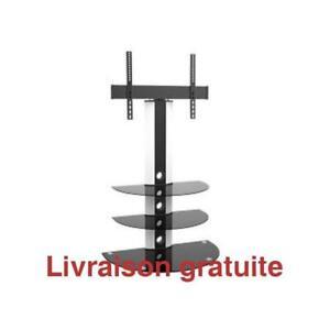 Meuble a TV  /TV Stand, Aluminum and Metal, Glass Shelves
