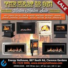 GAS & WOOD HEATER MEGA SALE - OVER 50 HEATERS ON DISPLAY Clarence Gardens Mitcham Area Preview