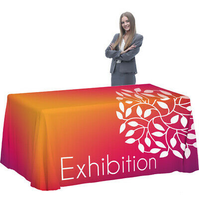 Trade Show 6ft Custom Printed Trade Show Tablecloth Design Help Available.