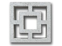 GREY CUBIC CONCRETE SCREEN BLOCKS (295X295X95MM) Price Per Block (National Shipping Available )