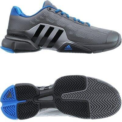 Adidas Barricade 2016 grau metallic blau Herren Tennisschuhe Indoor Allcourt NEU