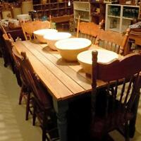 Super duper farm table! Optional chairs available :)