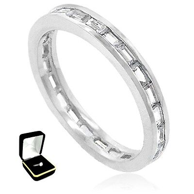 0.7CTW BAGUETTES STONES ENGAGEMENT ANNIVERSARY BAND RING size 5,6,7,8,9,10 w/box
