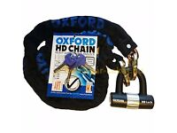OXFORD CHAIN AND LOCK 1.4m BRAND NEW