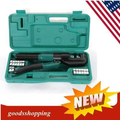 5 Ton 4mm-70mm Hydraulic Wire Crimper Battery Cable Lug Crimping Tool Kit