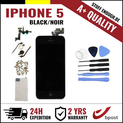 A+ LCD TOUCH SCREEN SCHERM ÉCRAN FULL ASSEMBLY BLACK NOIR + TOOLS FOR IPHONE 5