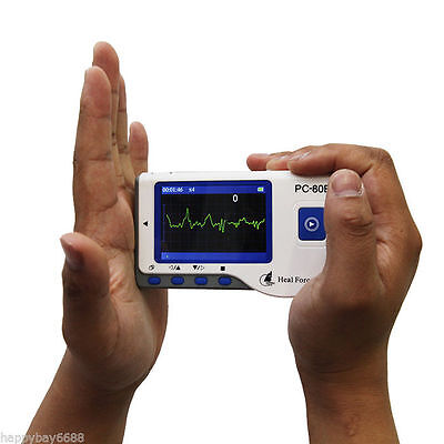 Handheld Color Screen Ecg Ekg Portable Heart Monitor Usb Software Ce A