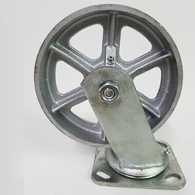 Heavy Duty 6 X 2 Steel Wheel With Swivel Caster