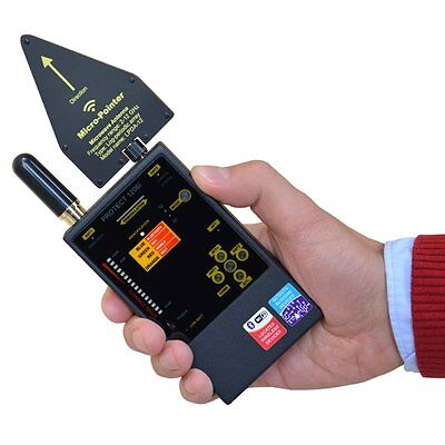 RF WiFi Bluetooth GSM DECT Anti Spy Wireless Signal Frequency Bug Detector TSCM
