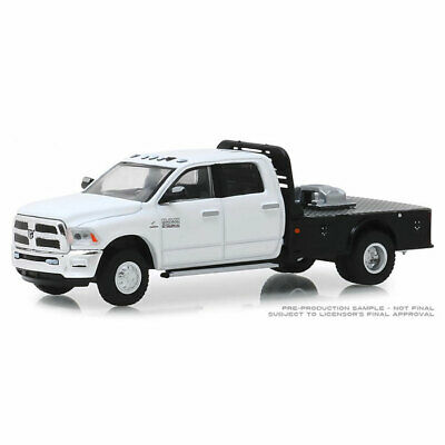 1:64 Greenlight 2018 Ram 3500 Flatbed Truck Dually Drivers Series 1 46010