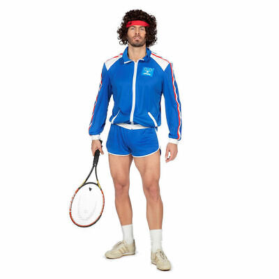 Tennis Spieler Kostüm 80er Jahre Stil, Karnevalskostüm - 80er Jahre Tennis Kostüme