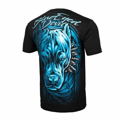 Blue Pit (Pit Bull West Coast T-Shirt Blue Eyed Devil 19  Black Pitbull)