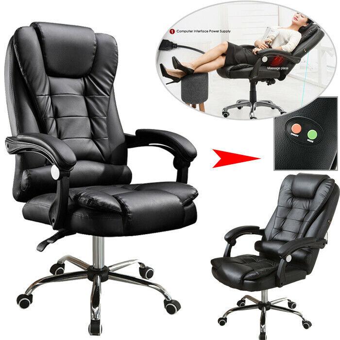 Executive Ergonomic Massage Chair Heated Vibrating Computer
