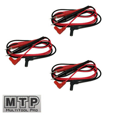 3 Pair Universal Probe Wire Cable Test Leads Pin Digital Multimeter